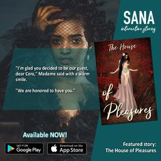 """Cora enters the """"House of Pleasure"""", hoping to find PLEASURE. Who will be the one who ignites her FLAME?! Only on Sana Interactive! 💚 TAGS: book quotes, romance, romance author, reading app, ebook, romance reading, books, romance books for women, free ebooks, free online, free books, romantic books, romantic novel, fantasy, romantic fantasy, fantasy author, fantasy reading, fantasy books, fantasy for women, fantasy romance, 💚 Fantasy Authors, Romance Authors, Fantasy Books, Romance Books, Google App Store, Fantasy Romance, Reading Books, Free Ebooks, Book Quotes"""
