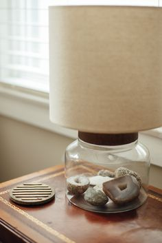 Ashley put rocks and crystals in this lamp from Target.