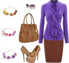"""purple - brown"" by kissfranciska on Polyvore"