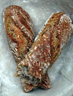 Baguettes tordues aux graines, levain liquide - MakanaiMakanai