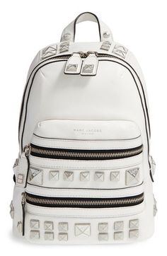 Marc Jacobs white backpack