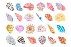 Snail Art, Sea Snail, Seashell Tattoos, Seashell Drawings, Island Tattoo, Tropical, Art Activities For Kids, Scallop Shells, Seashell Crafts
