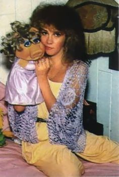 I can't believe #Stevie Nicks and I had the same #MissPiggy puppet in the same purple dress and purple evening gloves.