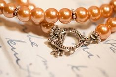 Amber Glass Pearls Necklace