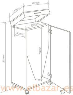 Mueble planchador melamina 2 puertas tabla planchar for Mesa planchar plegable
