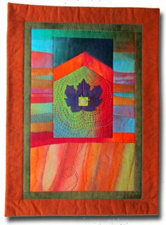 Purple Maple art quilt wall hanging by MelodyJohnsonQuilts on Etsy, $250.00