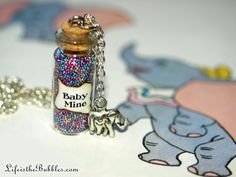 Dumbo, Baby Mine, Magical Necklace with an Elephant Charm, Disney Inspired, by Life is the Bubbles on Etsy, $16.00
