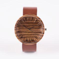 "Drevené hodinky ""Zebrano"" Wooden Watch, Handmade Wooden, Watches, Accessories, Amazon, Wooden Clock, Amazons, Wristwatches, Riding Habit"