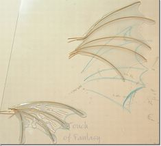 Using liquid polymer clay to make wings - trace design onto wax paper Polymer Clay Fairy, Polymer Clay Dragon, Polymer Clay Dolls, Polymer Clay Projects, Polymer Clay Creations, Bjd, Plastic Fou, Biscuit, Clay Fairies