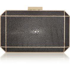 Anya Hindmarch Duke stingray shagreen box clutch