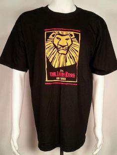 Disney Lion King Shirt Mens Sz L On Tour Presents On Broadway Musical Simba Lion King Shirt, Disney Lion King, Disney Tops, Musicals, Broadway, Label, Presents, Mens Tops, T Shirt