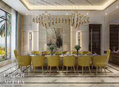 Dining Room Interior Design by Algedra Dining Room Interior Design by Algedra Luxury Dining Tables, Elegant Dining Room, Luxury Dining Room, Dining Room Design, Dining Room Table, Home Room Design, Luxury Chairs, Commercial Interior Design, Interior Design Dubai