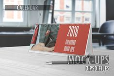 Calendar Mockups by graphiccrew on @creativemarket #new #years #newyears #calender #2018 #mockup #mockups #calendermockup