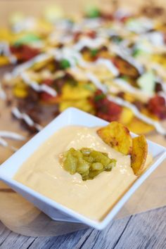 "Enjoy nachos again with this Paleo Nacho ""Cheese"" from 'Get Sauced,' made with nourishing, grain- and gluten-free ingredients!"