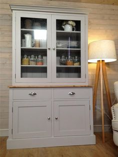 New Solid Pine Welsh Dresser Kitchen Unit Shabby Chic Painted Farrow&B in Home, Furniture & DIY, Furniture, Cabinets & Cupboards   eBay