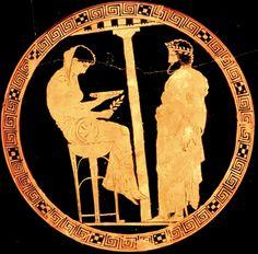 """La Pythie, également appelée Pythonisse, est l'oracle du temple d'Apollon à Delphes. Elle tire son nom de """"Python"""", le serpent monstrueux qui vivait dans une grotte à l'emplacement du site actuel du sanctuaire, et qui terrorisait les habitants de la région autour du Mont Parnasse avant d'être tué par Apollon, ou bien de """"Pytho"""", le nom archaïque de la ville de Delphes."""