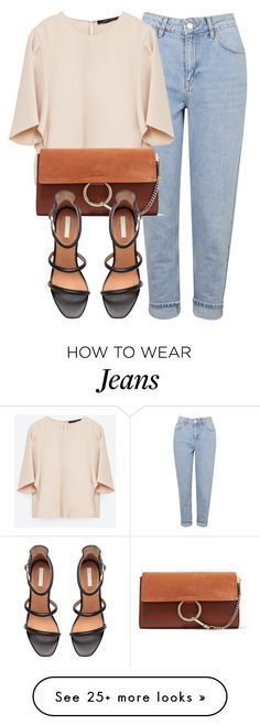 """""""Untitled #5783"""" by laurenmboot on Polyvore featuring Topshop, Zara, Chloé and H&M"""