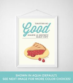 Cherry Pie Kitchen Print Poster baking bake baker by noodlehug