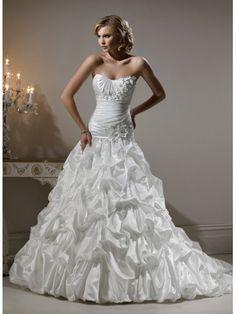 Robe de bal sans bretelles robe de mariée en satin