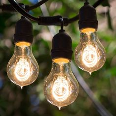 Have to have it. Bulbrite STRING15/E26-A19KT 48 ft. Outdoor String Light with Vintage Edison Bulbs - $215 @hayneedle