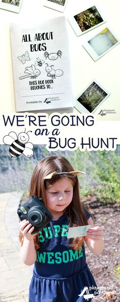 Preschoolers learn most when left to hands on, independent exploration. So what better way to learn about bugs that by observing them right in your own yard? Using photographs to document your scientific explorations, you can then use those photographs to extend your learning in the classroom. Get the printable All About Bugs book to journal and analyze the bugs you discover! #WonderPhotoShopNYC #ad | Preschool | Totschool | Science | STEM | STEAM | Bugs | Insects | Learning Activities ...