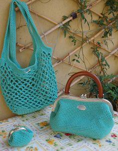 tripla borsa a uncinetto Etsy Handmade, Handmade Gifts, Straw Bag, Fashion, Kid Craft Gifts, Moda, La Mode, Craft Gifts, Fasion