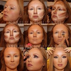 Step by step contouring! So want to try! So pretty!!