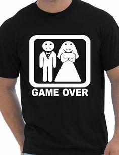 Junggesellenabschied Männer T-shirt Bräutigam Game Over Print