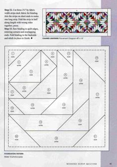 Organize & Storage: 17 Brilliant DIY Laundry Room Organization Ideas And Tips Patchwork Quilting, Paper Pieced Quilt Patterns, Barn Quilt Patterns, Pattern Blocks, Log Cabin Quilt Pattern, Pineapple Quilt, Paper Quilt, Foundation Paper Piecing, English Paper Piecing