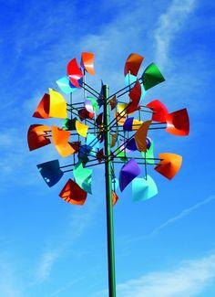 Kinetic Wind Art, Kinetic Wind Spinners, Garden Wind Spinners, Blowin' In The Wind, Wind Sculptures, Backyard Playground, Public Art, Pinwheels, Yard Art