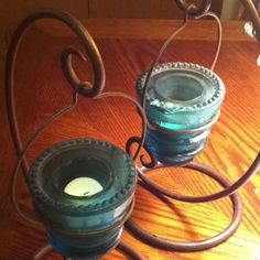 Made with old glass insulators.
