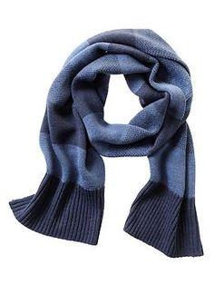 Birdseye stripe scarf | Banana Republic | $39.50