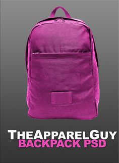 Backpack PSD by ~TheApparelGuy on Deviantart (free mockup templates)