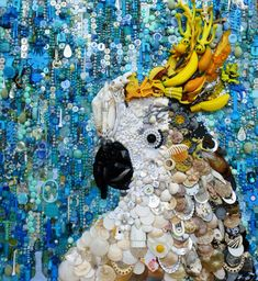 Mixed media, buttons and beads. janeperkins.files.wordpress.com 2016 04 cockatoo-copy.jpg