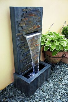 46 Beauty Outdoor Water Fountains Ideas Best For Garden Landscaping - Page 3 of 48 Backyard Water Fountains, Small Water Fountain, Indoor Wall Fountains, Patio Fountain, Backyard Water Feature, Indoor Fountain, Garden Fountains, Fountain Design, Fountain Ideas