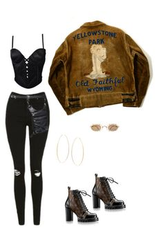 """""""parked"""" by briannamazzola ❤ liked on Polyvore featuring Topshop, Versace and Lana"""