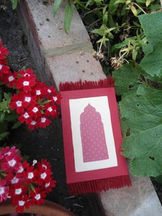 Prayer Mat Card Handmade 14.8 x 10.5 cm with by ShamimTree on Etsy