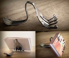 fork cook book holder