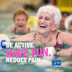 Join the fun and be physically active. It decreases #arthritis pain, increases people's ability to do their usual activities, and improves mood.  #ArthritisMonth