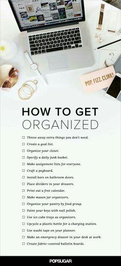 Ho w to get organized