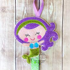 Mermaid Hair Bow Holder Mermaid Hair Don't Care Bow Holder/ klippie keeper for Hair Clips/ Pins OR Headbands