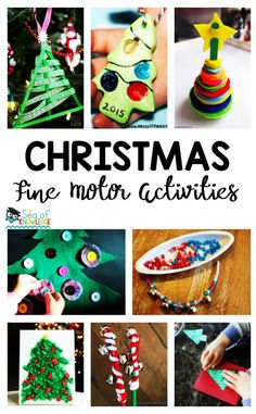 23 Christmas Fine Motor Activities. These fun and engaging fine motor activities will get kids having fun while fine tuning their motor skills this Christmas - Sea of Knowledge