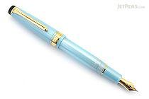 Sailor Pro Gear Slim Shiki-Oriori Four Seasons Fountain Pen - Haruzora - Metallic Sky Blue - Medium Fine Nib - SAILOR 11-1224-301
