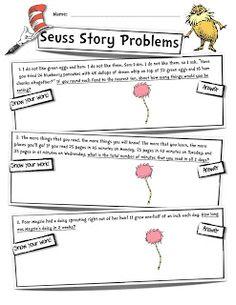 Digging Deep ... to Soar Beyond the Text: Mrs. Heeren's Happenings: My First Post: Seuss Sto...