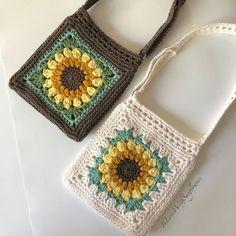 Crochet Crochet Purse with crossbdy strap adjustable - Handmade Purse - Sunflower Purse - Cro., # crochet handbags and purses Crochet Crochet Purse with crossbdy strap adjustable - Handmade Purse - Sunflower Purse - Cro. Crochet Handbags, Crochet Purses, Crochet Hooks, Knit Crochet, Crochet Bags, Cotton Crochet, Crochet Granny, Free Crochet, Cotton Fabric