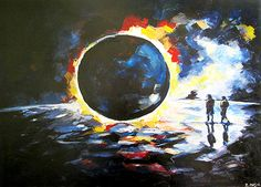 solar eclipse art | Solar Eclipse Print by Zlatko Music
