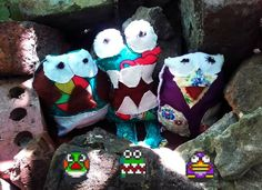 Dyna Blaster monster plushies