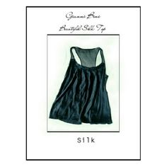 LABOR DAY SALEGIANNI BINI BLACK 100% SILK TOP BEAUTIFUL GIANNI BINI BLACK 100% SILK TOP Detailed pleating on top front Frayed top neckline Sheer Racer - like back 100% silk Size 4 Gianni Bini Tops