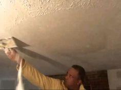 How To Remove Textured Wall & Ceilings Water Damage Drywall Plaster Popcorn Atlanta GA Home Repair - YouTube