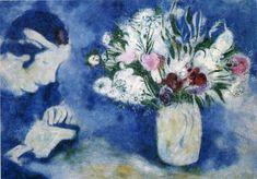 Acheter Tableau 'Bella dans Mourillon' de Marc Chagall - Achat d'une reproduction sur toile peinte à la main , Reproduction peinture, copie de tableau, reproduction d'oeuvres d'art sur toile